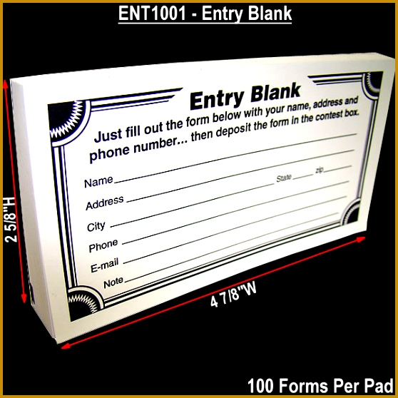 Main2 4 7 8w x 2 5 8h Entry Pad Forms 100 558558