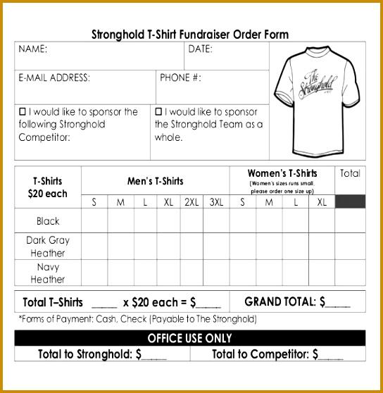 t shirts order form templates free - Mersn.proforum.co