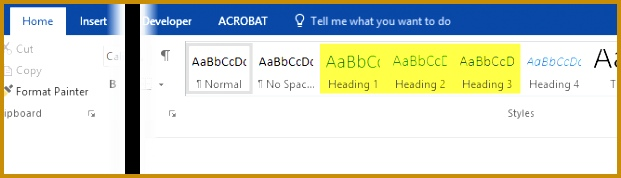 Setup and View Headers in Word 621178