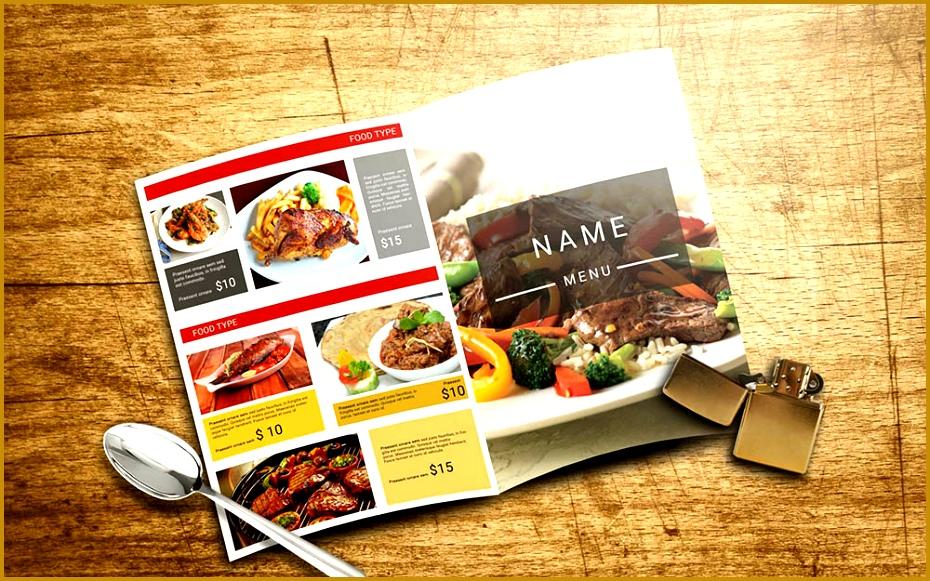 Restaurant Menu with catalog and cover Design 930581