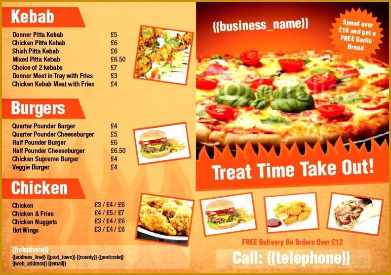 Take a look at this folded takeaway menu design 559792