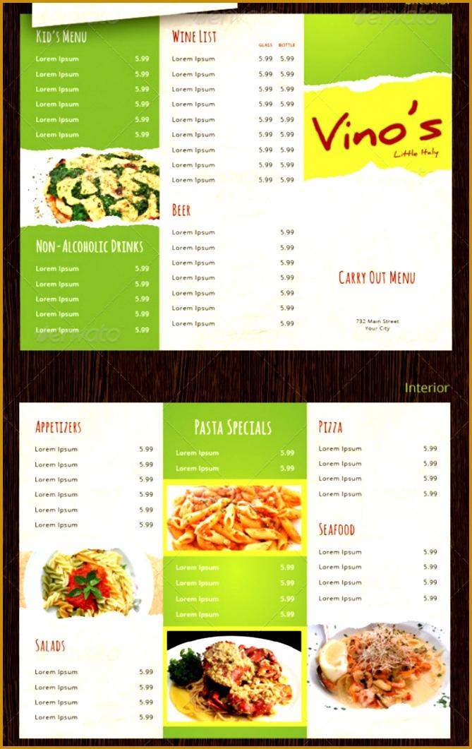 italian restaurant rustic takeaway menu design 1061669