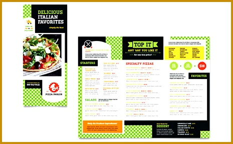 Pizza Parlor Take out Brochure Template 465288