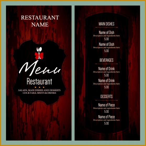 vintage restaurant menu templates 558558