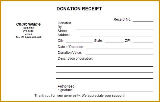 6 Tax Deductible Receipt Template | FabTemplatez