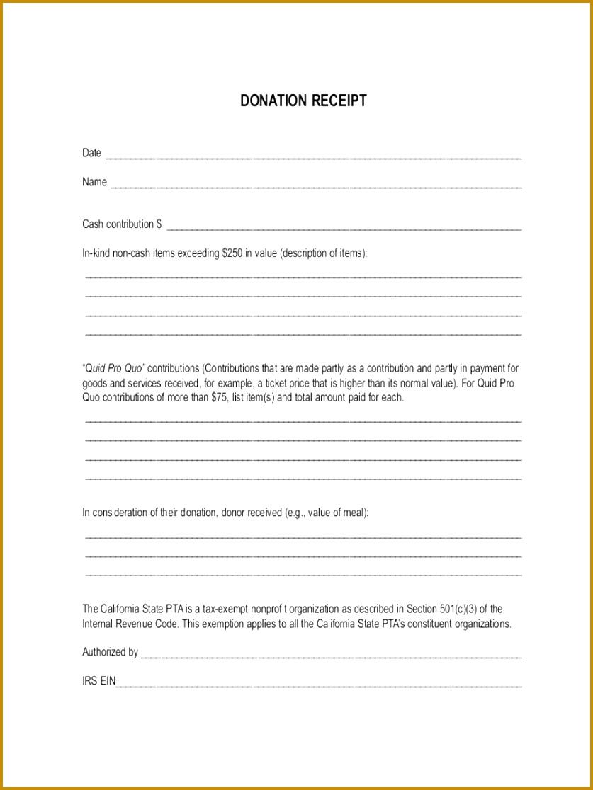 6 Tax Deductible Receipt Template   FabTemplatez