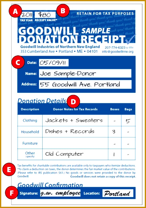 how to fill out a donation receipt 684480