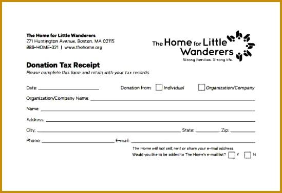 6 non profit donation receipt Return receipt form generic donation form 377549