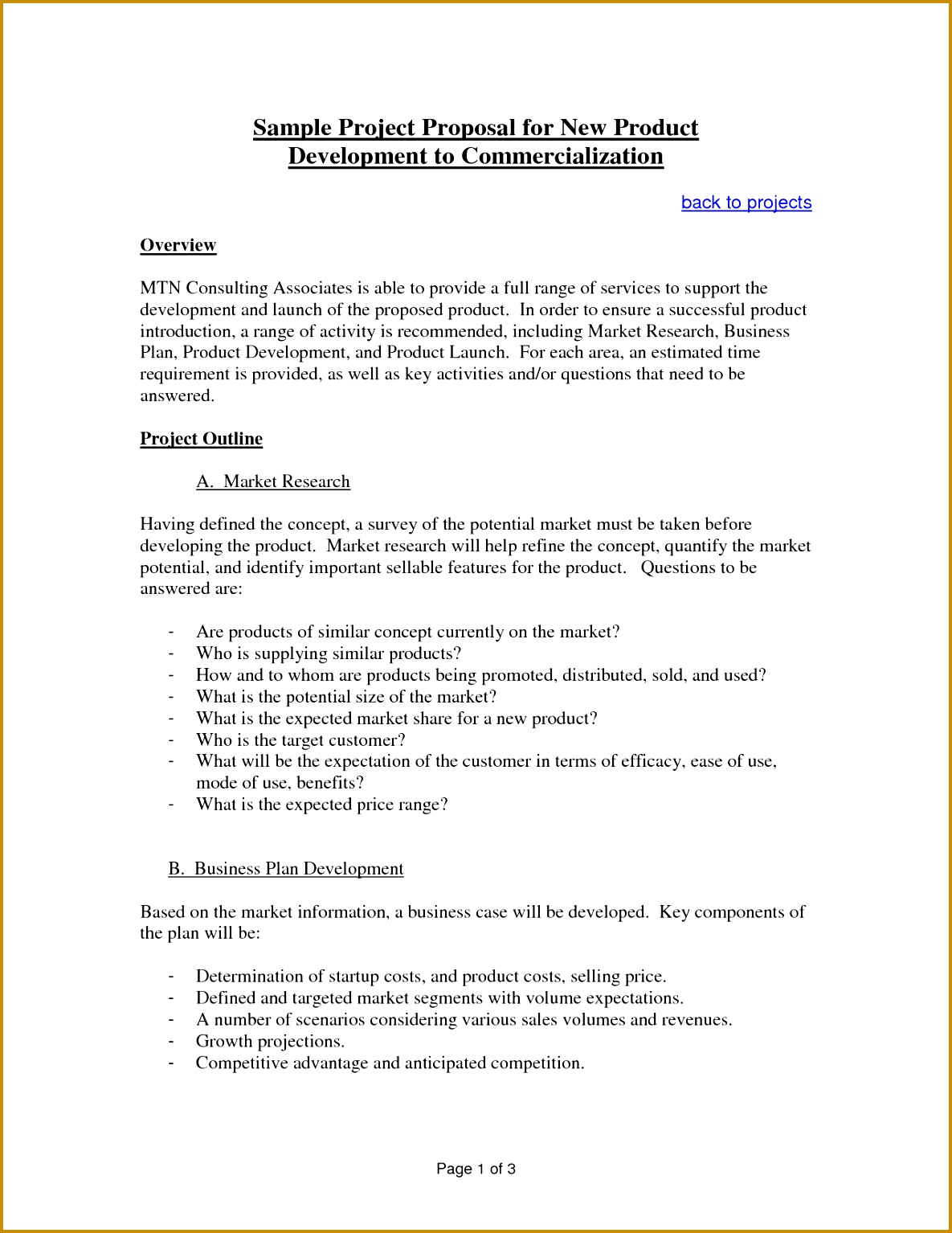 s Technical Project Proposal Template size 15341185