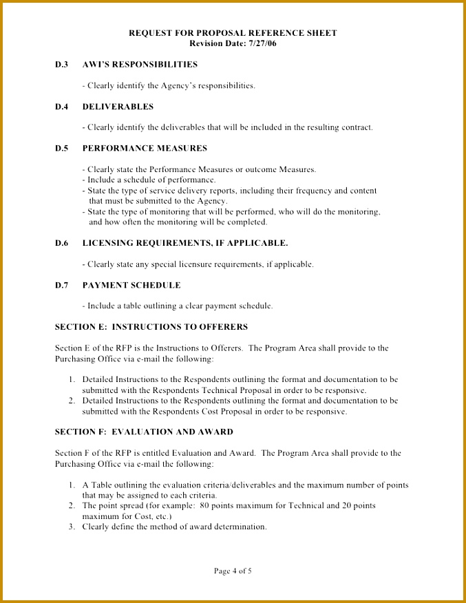 Sample Technical Proposal Template  Resume Template Sample