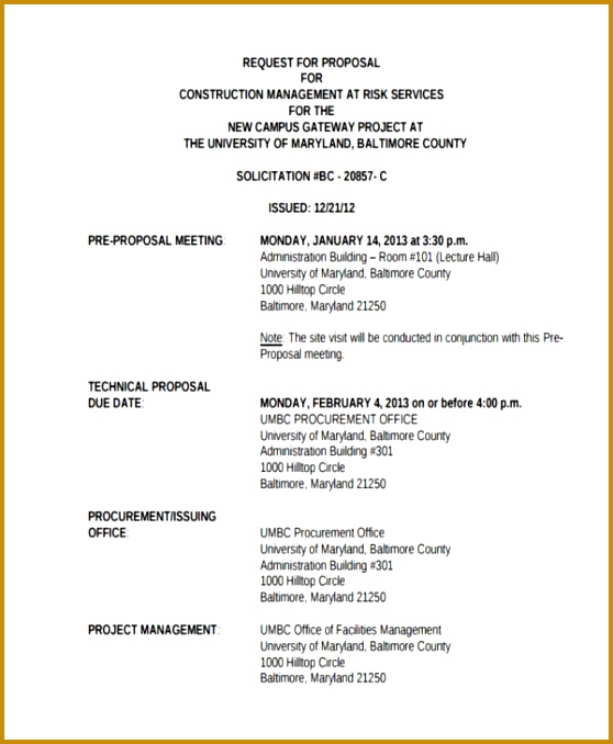 Technical proposal template doc gallery project proposal for Compressed work week proposal template
