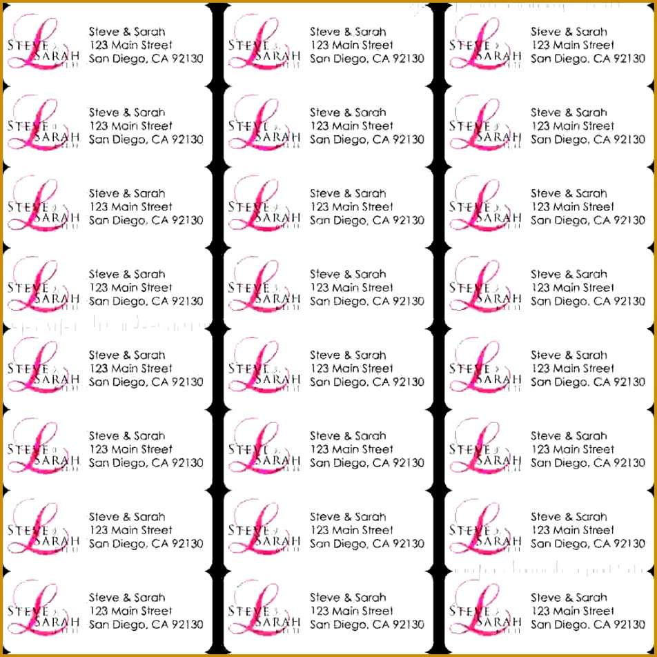 3 template for address labels 30 per sheet