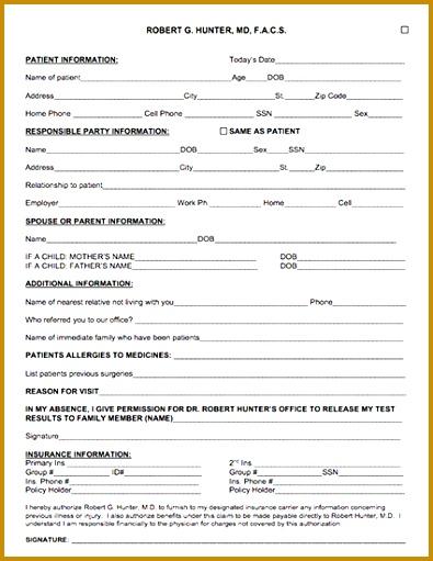 3 template for patient information sheet fabtemplatez