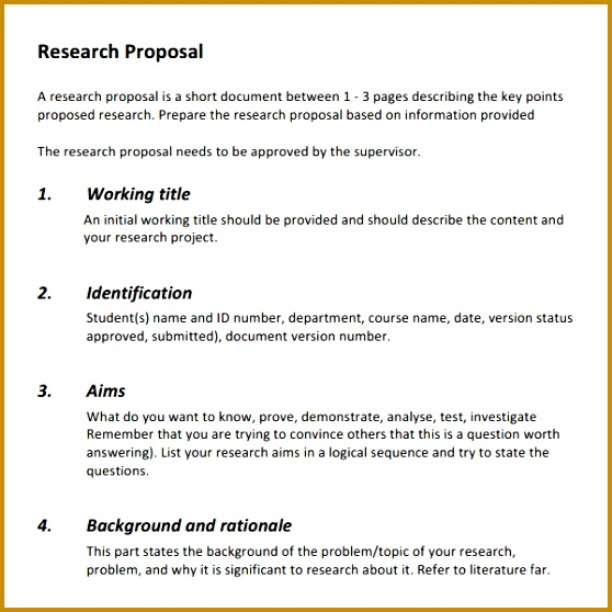 any research proposal