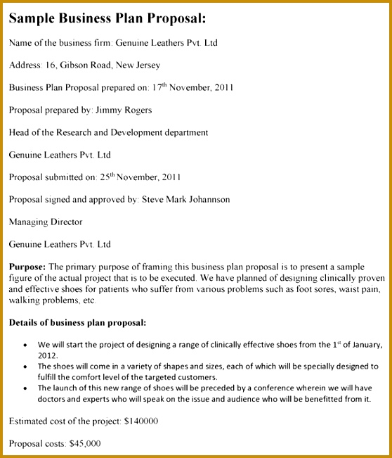 Business Plan Proposal Template Business Plan Proposal Template Download 651558