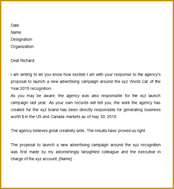 Proposal Letter Templates Free DocPdf Sample Templates 5ZxnrfLa 604558