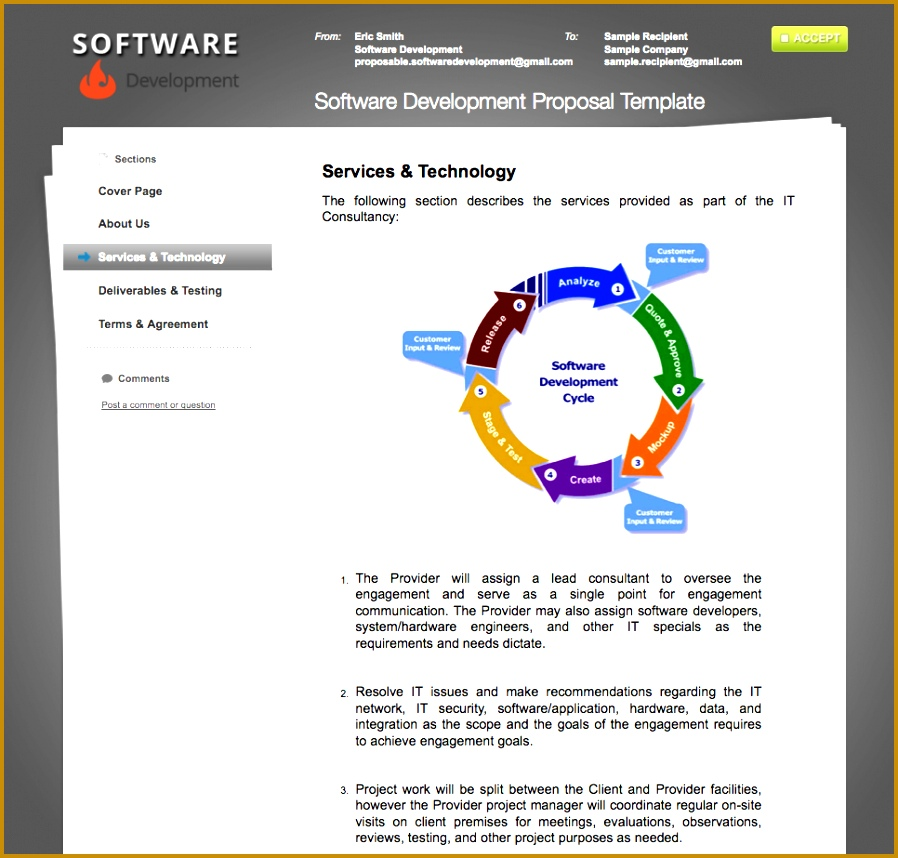 Software Development Sample Proposal 858898
