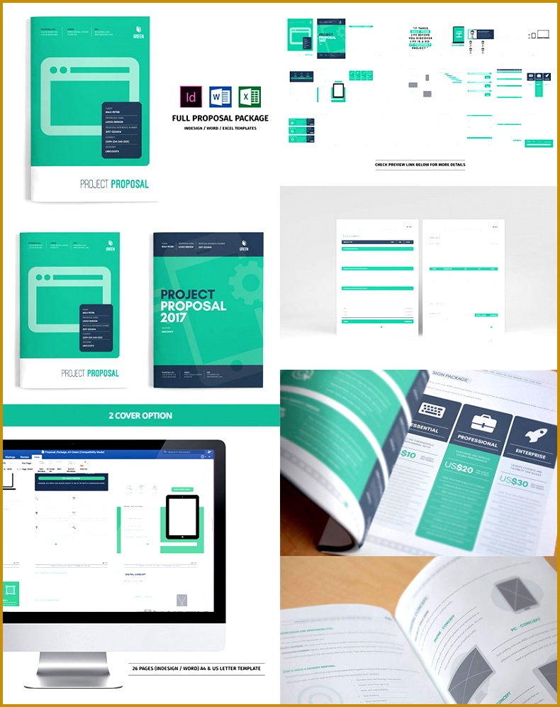 Full Business Proposal Template Package Design 790996
