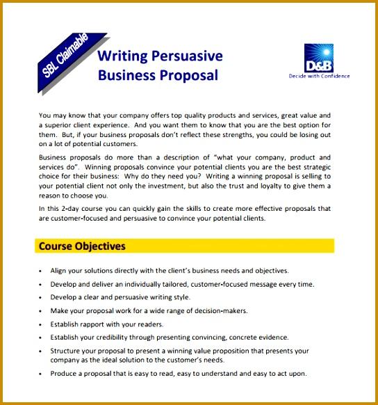 Business Writing Proposal PDF Format 582544