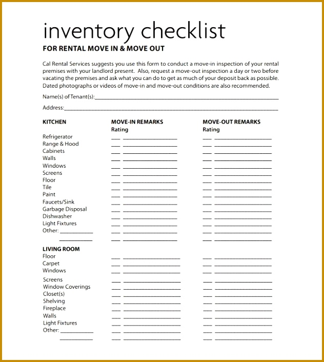 tenant check out form template 61477 tenancy inventory template