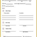 Tenant Information Sheet Template 83798 Sample Printable New