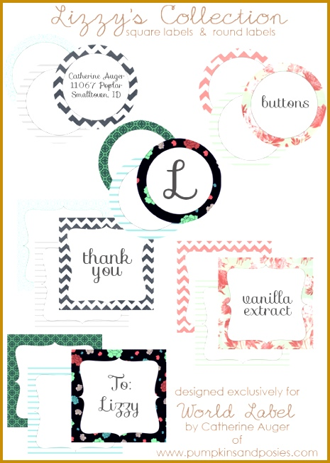 "and square labels"" are designed by Catherine Auger of pumpkinandposies Labels are in printable PDF templates and are editable Download for free 465651"