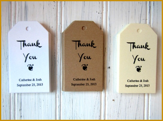 Wedding Favor Thank You Tags Download 404544
