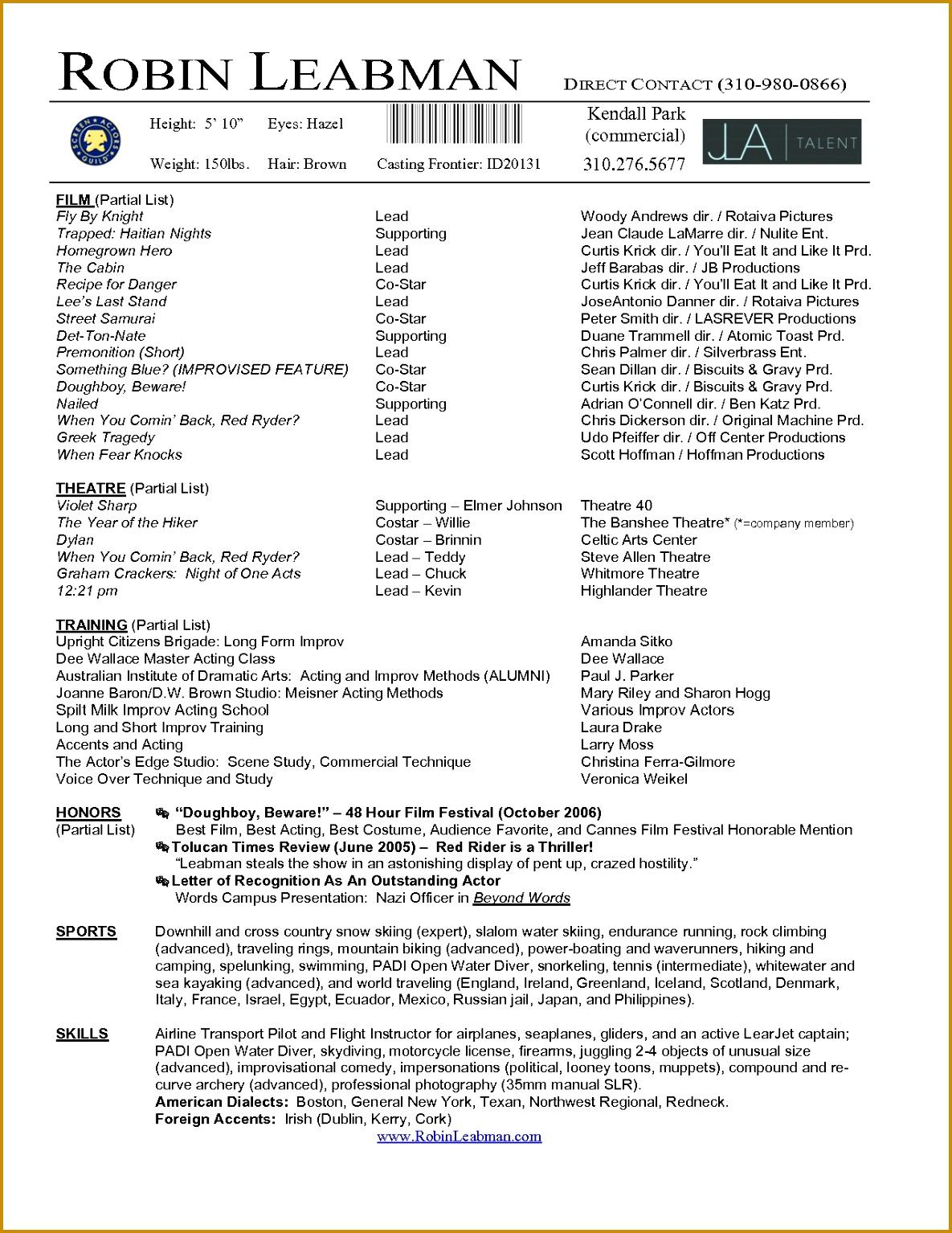 5 Theatre Audition Form Template Fabtemplatez