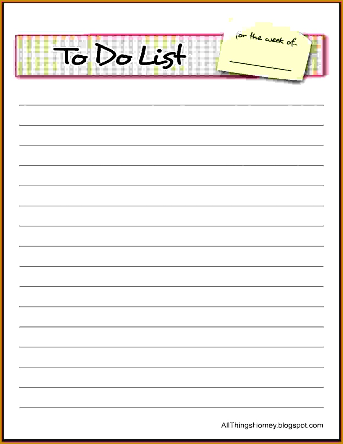 Things To Do List Template do list bordered 14991160