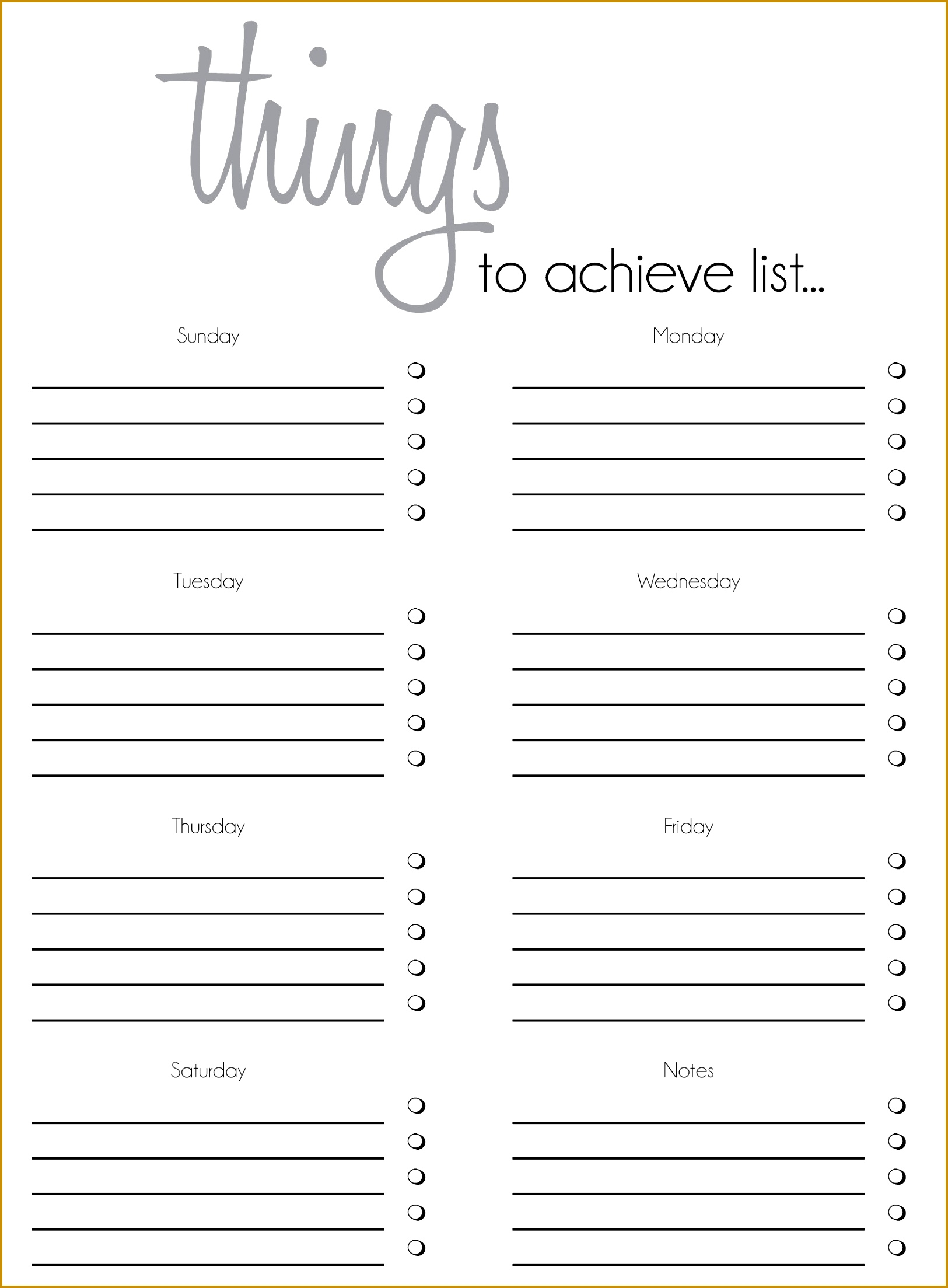 Free printable laundry list of to do s and to do itinerary form 16252207