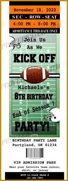 Free Printable Football Invitation Templates 219583