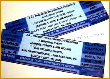 wedding ticket invitations 268372
