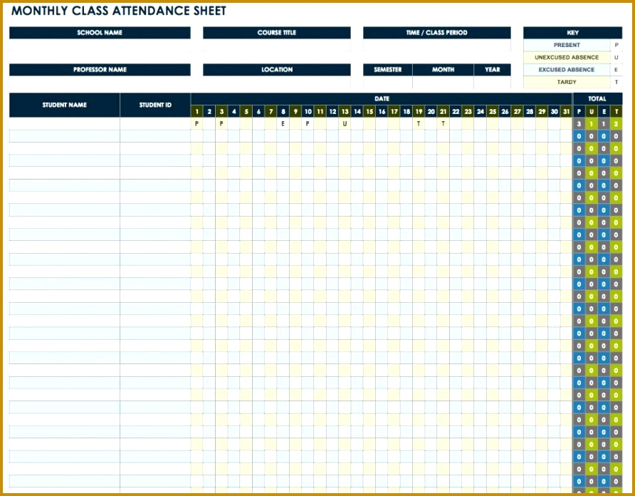 Free Attendance Spreadsheets And Templates 696892