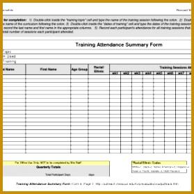 Attendance Sheet Template Free Birthday Invite Resume 10 Best Training Forms Post Training 279279