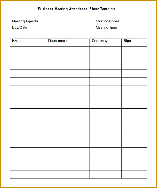 Business Sign In Sheet Template Sample Training Sign In Sheet 13 Documents In Pdf 652544