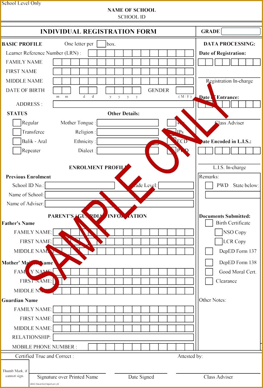 7 Training Course Registration Form Template   FabTemplatez