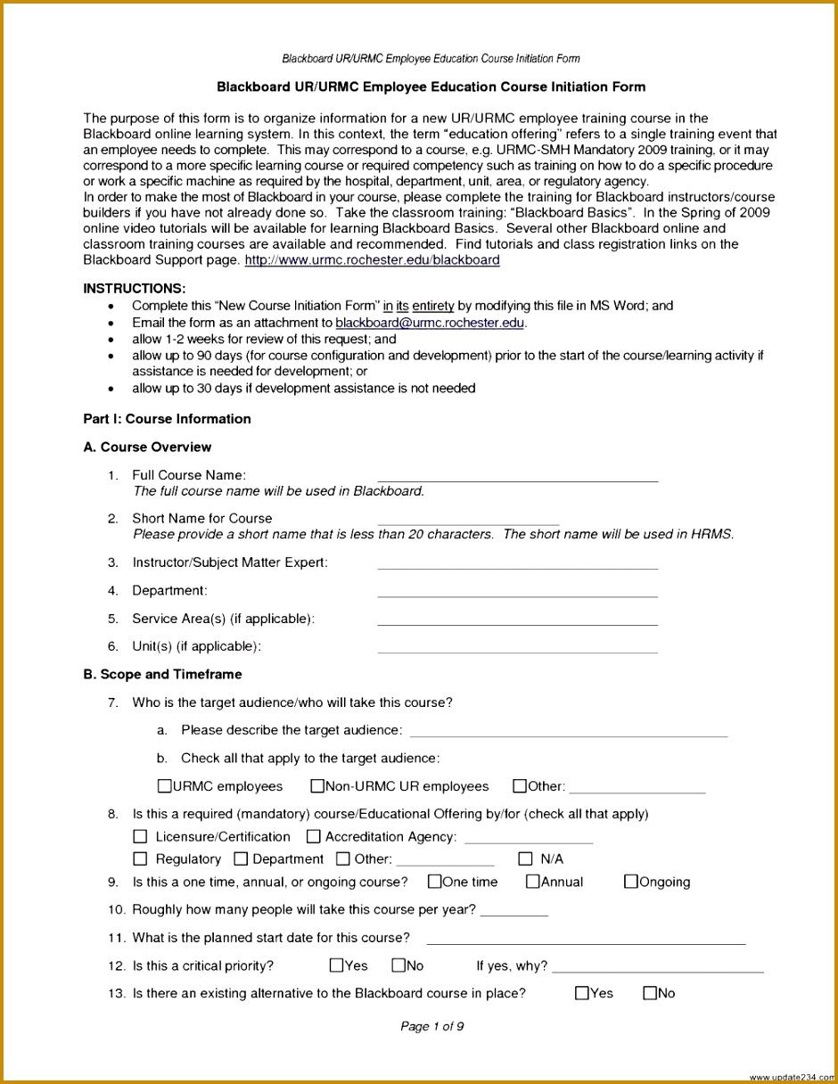 Free Training Needs Analysis Template 1216940