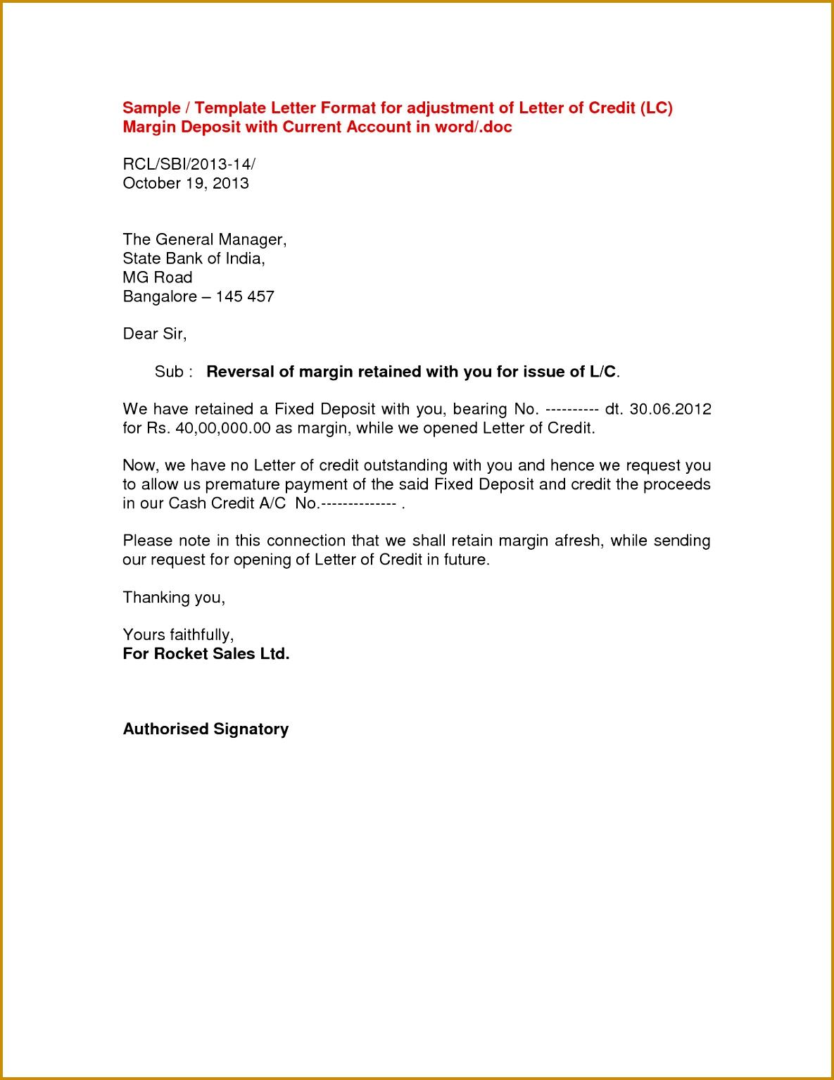 Money Transfer Letter Sample 15341185