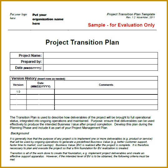 XTransitionPlanTemplate 539539