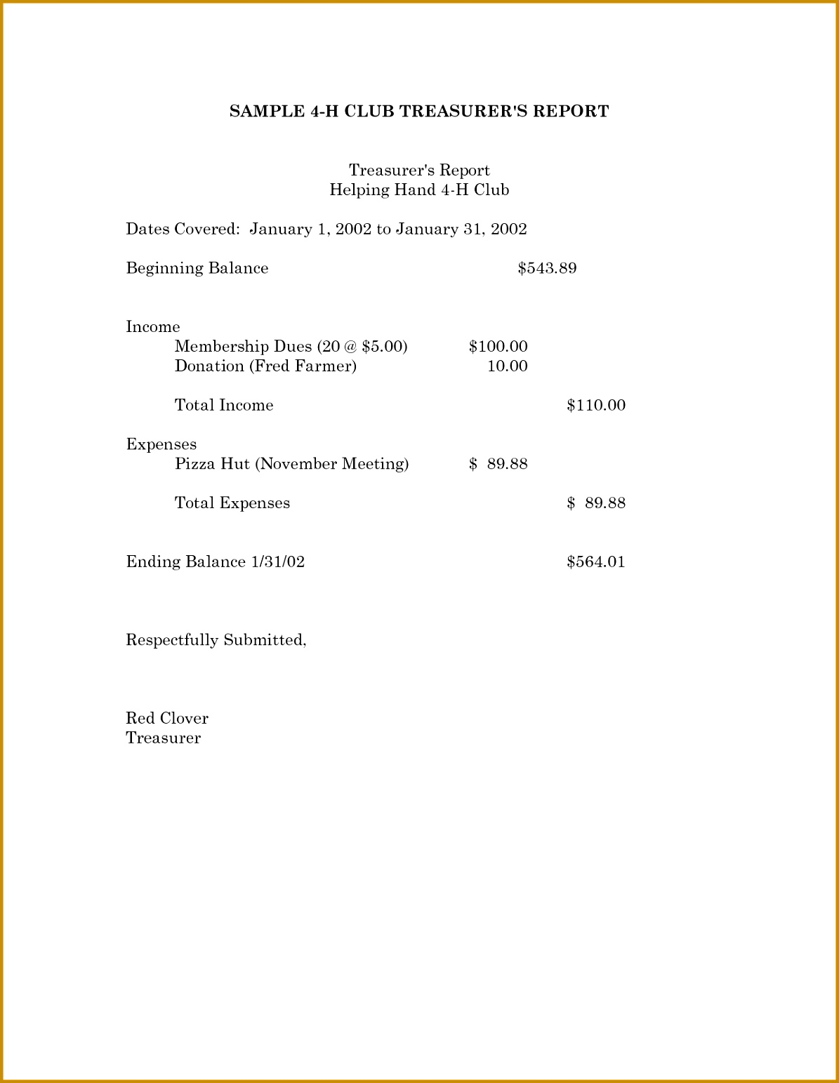 Expense Report Template Excel 2010 and 8 Treasurer S Report Template Expense Report 15431195