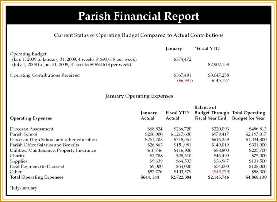 Free Non Profit Annual Report Template and Annual Financial Report Template Pta Treasurer Excel Non Profit 695952