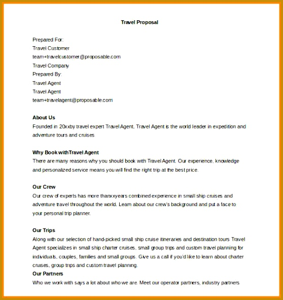 6 trip proposal template welder resume 591558