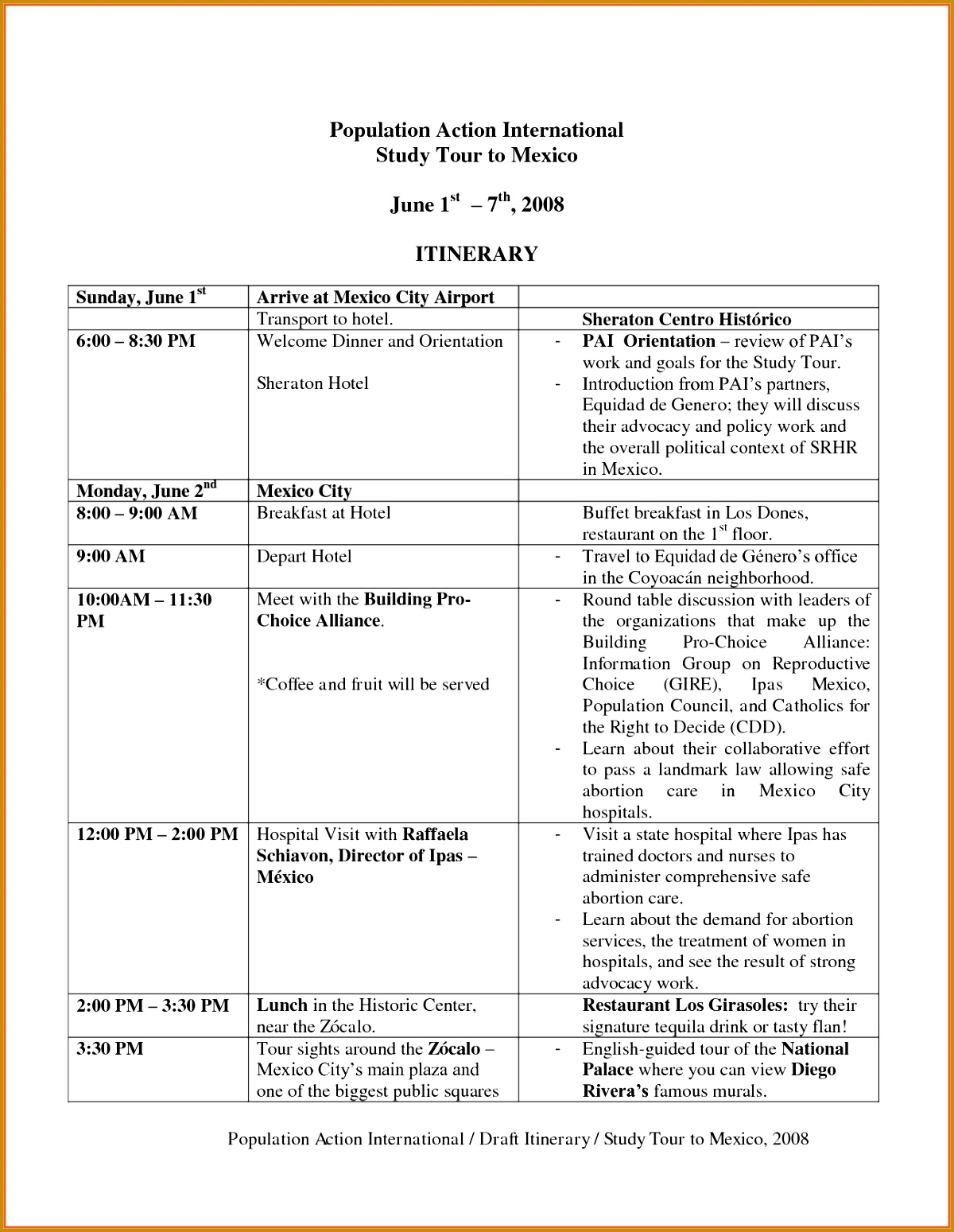 Itinerary Examples Trip 12001549