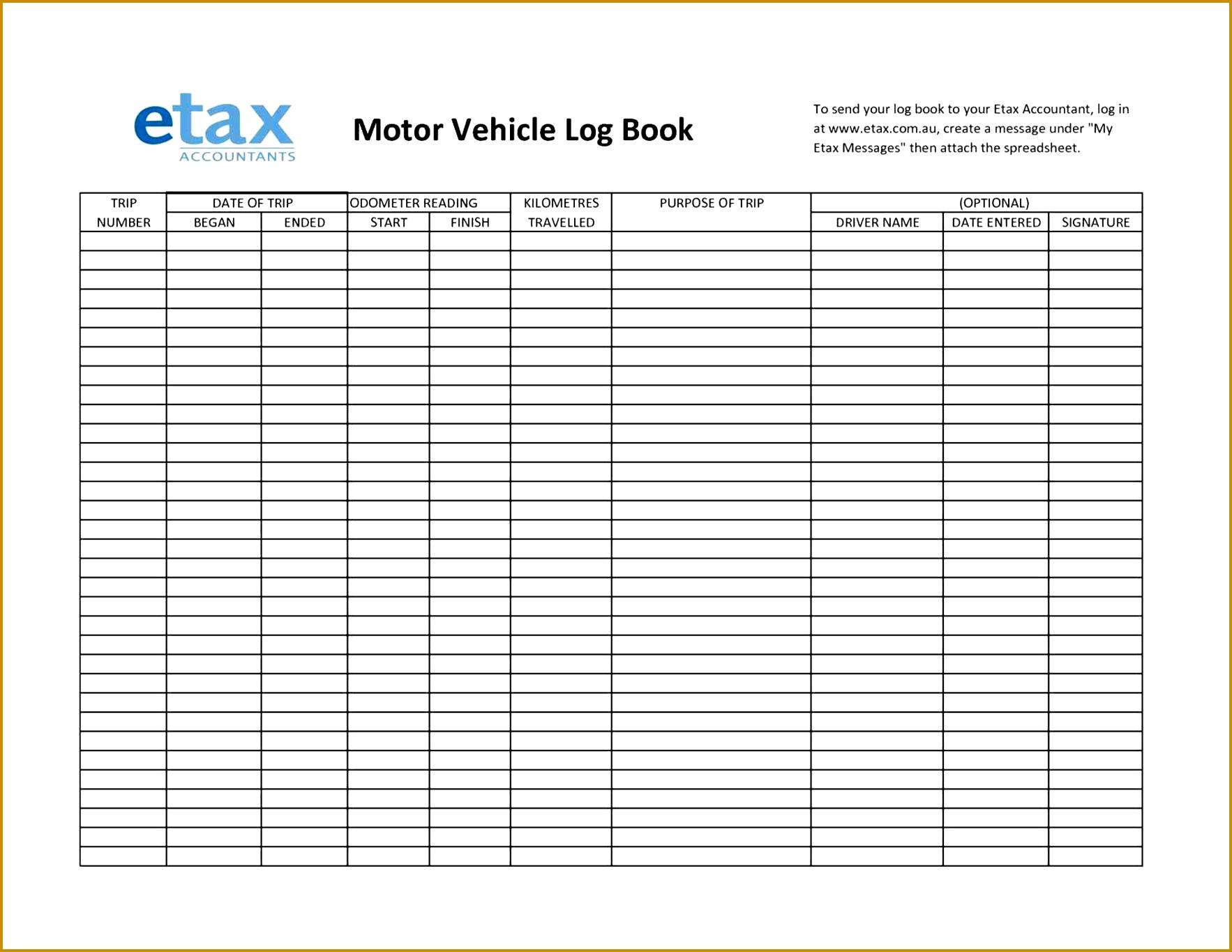 5 Truck Drivers Trip Sheet Template Fabtemplatez
