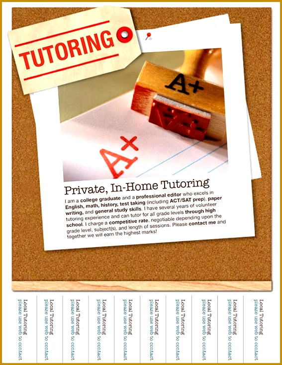 15 Cool Tutoring Flyers 13 734567