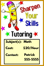 Tutoring Flyer 262174