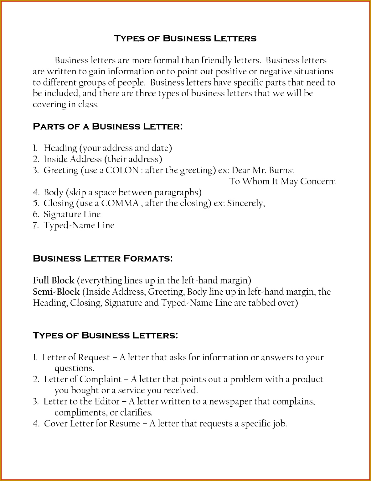 Business Letters School Transfer Letter Template Mind Map Template 3 Letter Business Names Inspirational Three Types Business Letters The Letter Sample 11851534