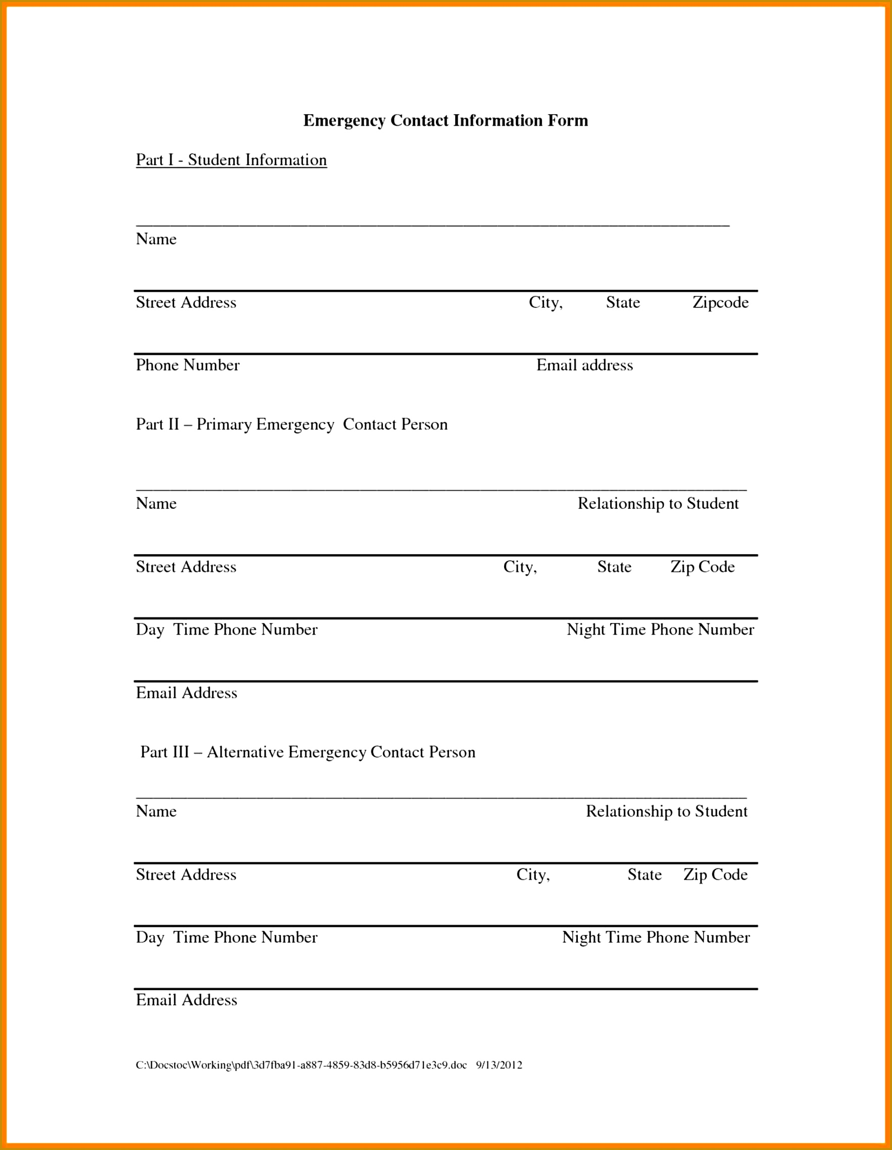 Contact Form Template 7 Update Contact Information Form Template  Fabtemplatez