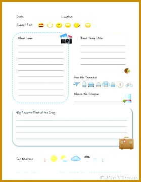 vacation log template