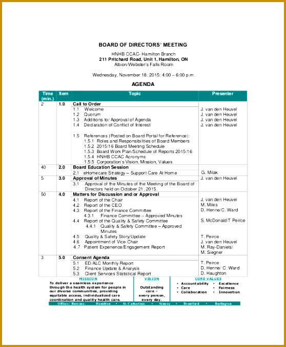 4 vendor meeting agenda template